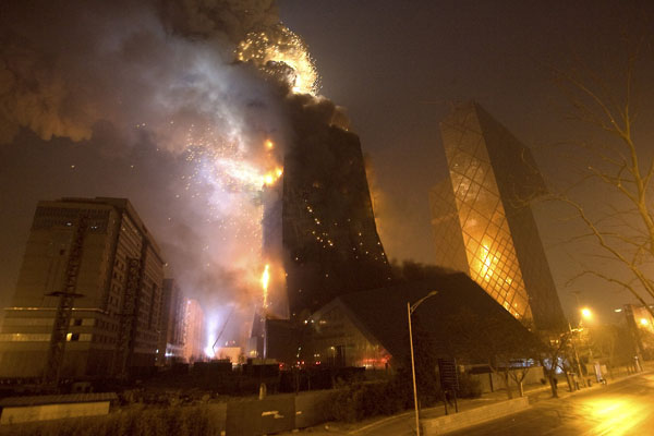 Fire CCTV China