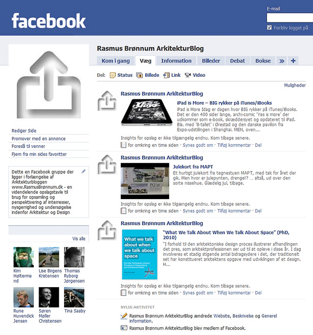 BLOG AND FACEBOOK IT AWAY